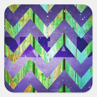 viga, ziguezague, colorido, teste padrão, adesivo quadrado