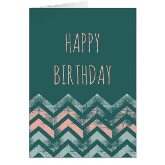 Vigas afligidas do feliz aniversario cartão comemorativo