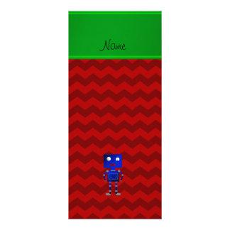 Vigas azuis conhecidas personalizadas do vermelho planfetos informativos coloridos