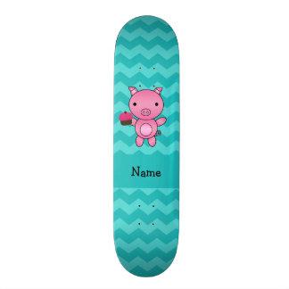 Vigas conhecidas personalizadas de turquesa do cup skate personalizado