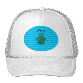 Vigas conhecidas personalizadas do azul da tartaru boné