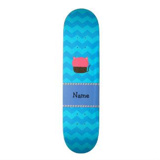Vigas conhecidas personalizadas do azul do cupcake shape de skate 21,6cm