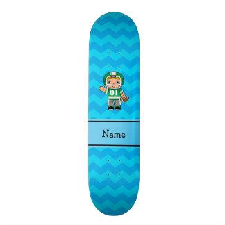 Vigas conhecidas personalizadas do azul do jogador shape de skate 18,4cm