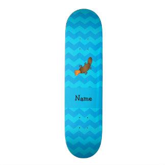 Vigas conhecidas personalizadas do azul do platypu shape de skate 18,7cm