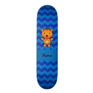 Vigas conhecidas personalizadas do azul do tigre skate boards