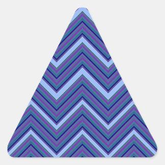 Vigas do azul da sarja de Nimes Adesivo Triangular