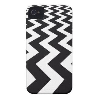 Vigas preto e branco verticais capas para iPhone 4 Case-Mate