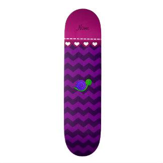 Vigas roxas conhecidas personalizadas do roxo do shape de skate 21,6cm