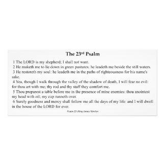 Vigésimo terceiro cartão da oração do salmo 10.16 x 22.86cm panfleto