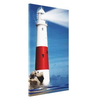 Vigia do farol no mar impressão em canvas
