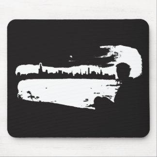 Vigia preta & branca da cidade - Mousepad