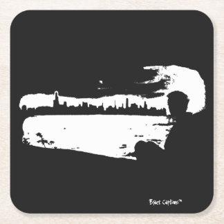 Vigia preta & branca da cidade - portas copos porta-copo de papel quadrado