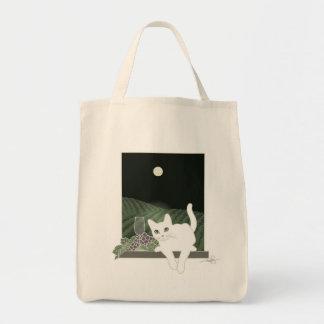 Vigne, Clair de Lune e o bate-papo Blanc (gato Sacola Tote De Mercado