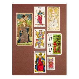 VIII justiça, sete cartões de tarot
