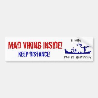 Viking louco Bumpersticker Adesivo Para Carro