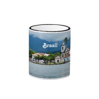 Vila de Brasil Caneca Com Contorno