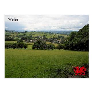 Vila de Llanigon, Powys, Wales Cartão Postal