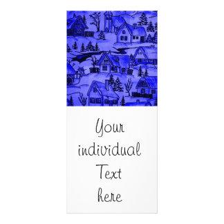 vila do inverno, azul panfletos informativos personalizados