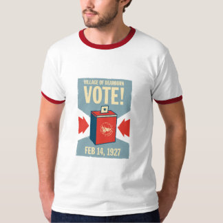 Vila do T da campainha dos homens do voto de T-shirt