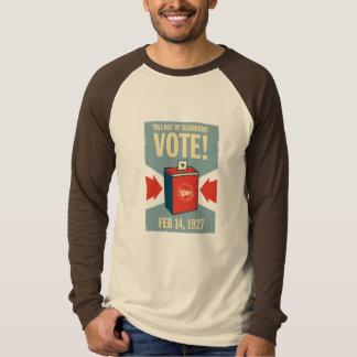 Vila do T do Raglan dos homens do voto de Dearborn Tshirts