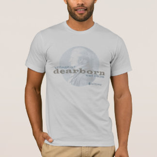 Vila do T do vintage dos homens de Dearborn 1836 Tshirts