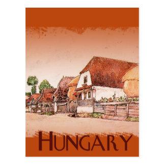 Vila do vintage de Hungria Cartão Postal