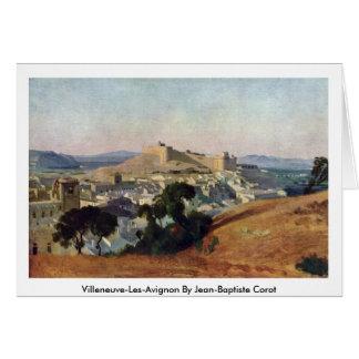 Villeneuve-Les-Avignon por Jean-Baptiste Corot Cartão Comemorativo