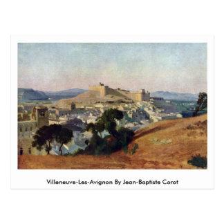 Villeneuve-Les-Avignon por Jean-Baptiste Corot Cartão Postal