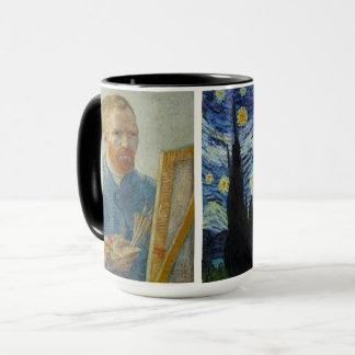 Vincent van Gogh - Auto-Retrato & caneca da noite