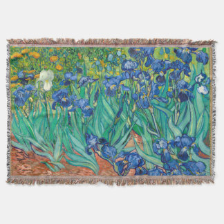VINCENT VAN GOGH - íris 1889 Throw Blanket