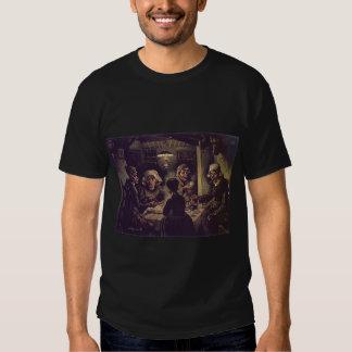 Vincent van Gogh o png dos comedores da batata um Tshirts