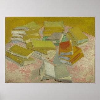 Vincent van Gogh - pilhas de novelas francesas Pôsteres