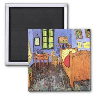 Vincent van Gogh - quarto em belas artes de Arles Ímã Quadrado