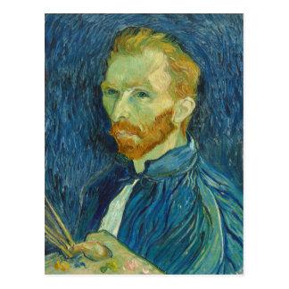 Vincent van Gogh: Retrato de auto, cartão 1889