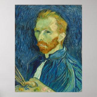 Vincent van Gogh: Retrato de auto, poster 1889
