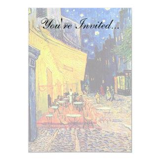 Vincent van Gogh - terraço do café em belas artes Convite 12.7 X 17.78cm