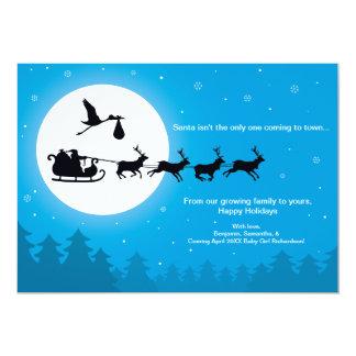 Cartão Vinda ao anúncio da gravidez do Natal da cidade