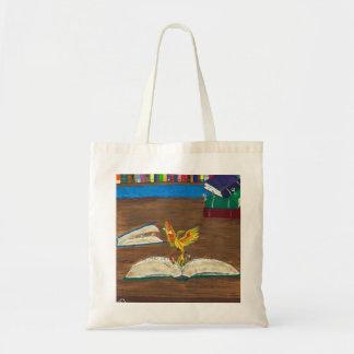 Vinda dos livros viva bolsa tote