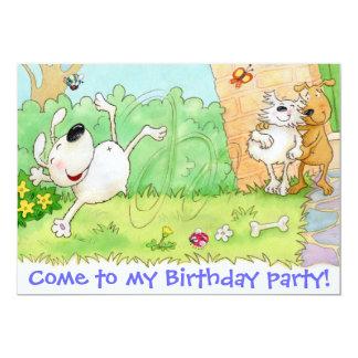Vindo a minha festa de aniversário convite 12.7 x 17.78cm