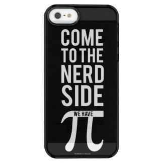 Vindo ao lado do nerd capa para iPhone SE/5/5s transparente