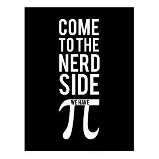Vindo ao lado do nerd cartão postal
