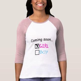 Vindo logo, menina t-shirt