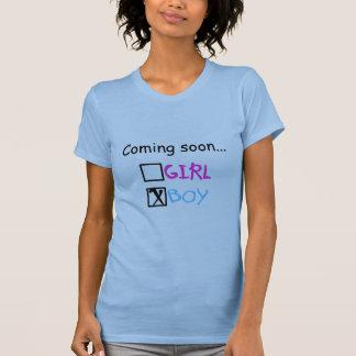 Vindo logo, menino t-shirt