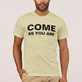 Vindo porque você é camisa da rocha t do grunge do