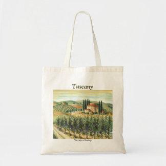 Vinhedo e casa de campo de Tuscan Bolsa Tote