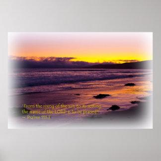Vinheta do branco do 113:3 dos salmos posteres