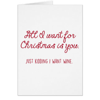 Vinho do Natal Cartão Comemorativo