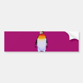 Vinho do pinguim adesivo para carro