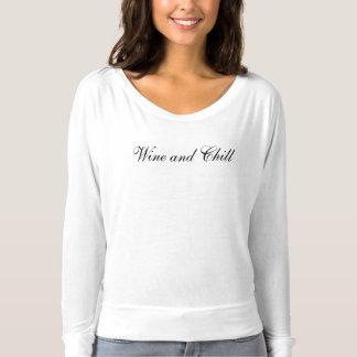 Vinho e frio camiseta