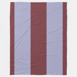 Vinho e Vertical-Listrado Cinza-Azul Cobertor De Lã
